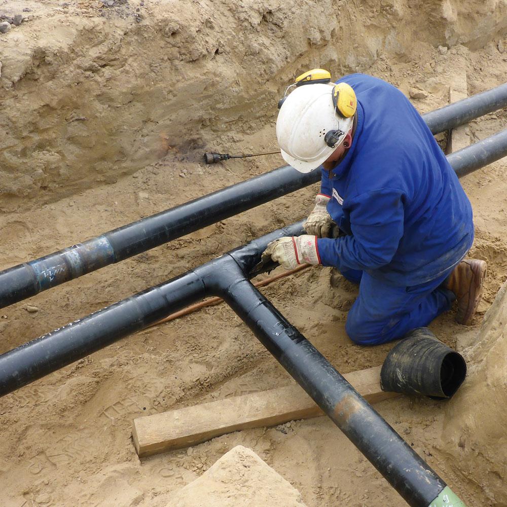 Bau und Instandhaltung von Pipelines